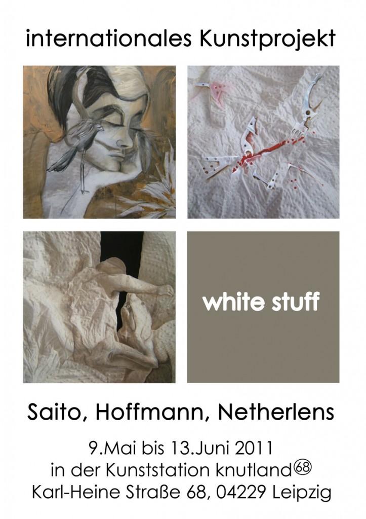 White Stuff Ausstellungsplakat